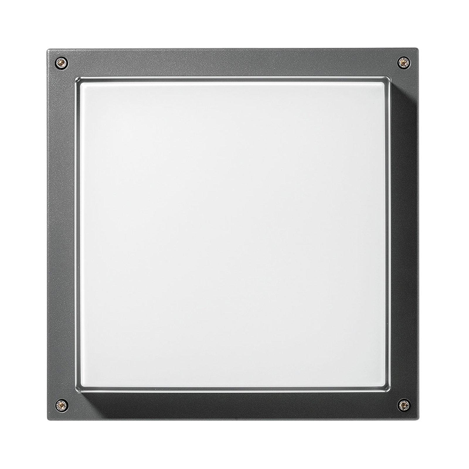 Vegglampe Bliz Square 40 3 000 K, antrasitt dimbar