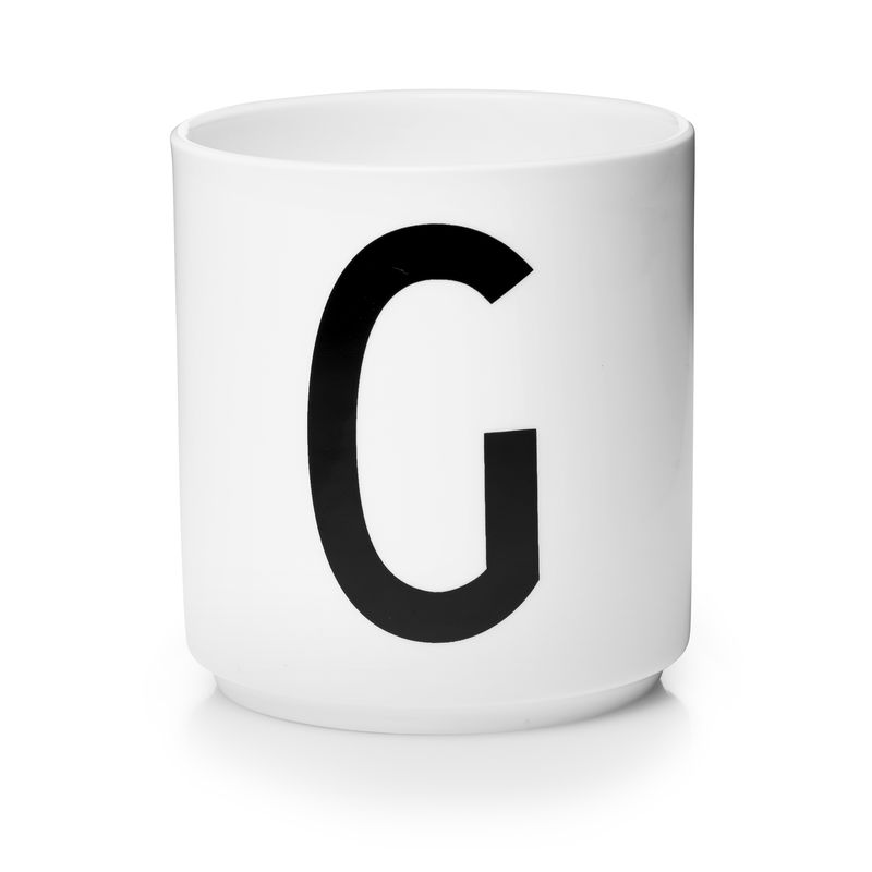 Design Letters - Personal Porcelain Cup G - White (10201000G)
