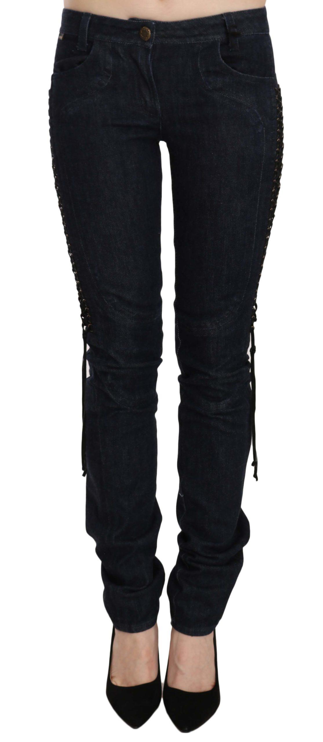 Just Cavalli Women's Low Waist Skinny Trouser Black PAN70321 - W26