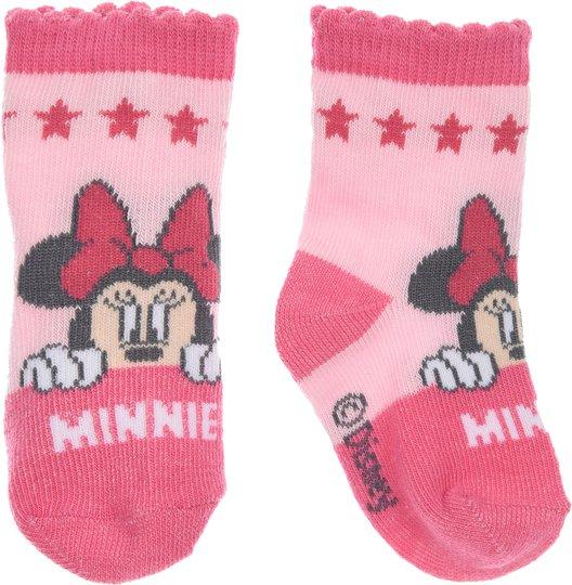 Disney Minni Mus Sokker, Dark Pink 0-6mån