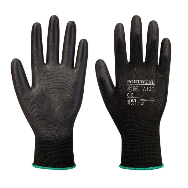 Portwest A120 Handske svart, PU XXS
