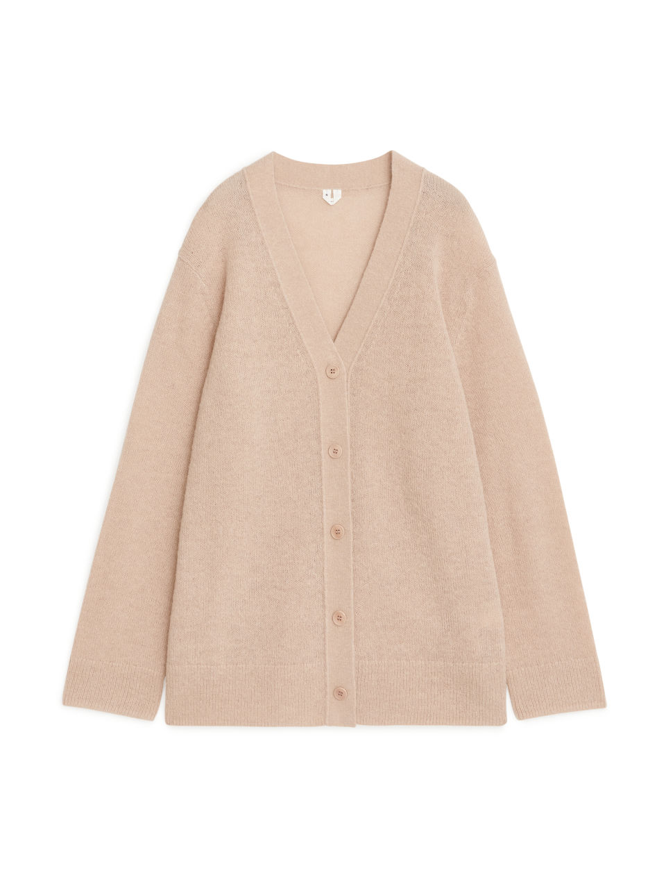 Oversized Knitted Cardigan - Beige