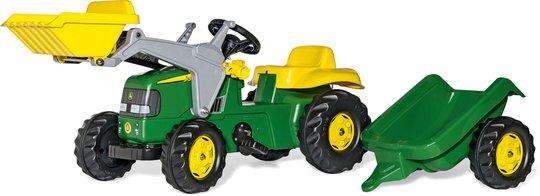 Rolly Toys Trampetraktor med Laster og Tilhenger John Deere