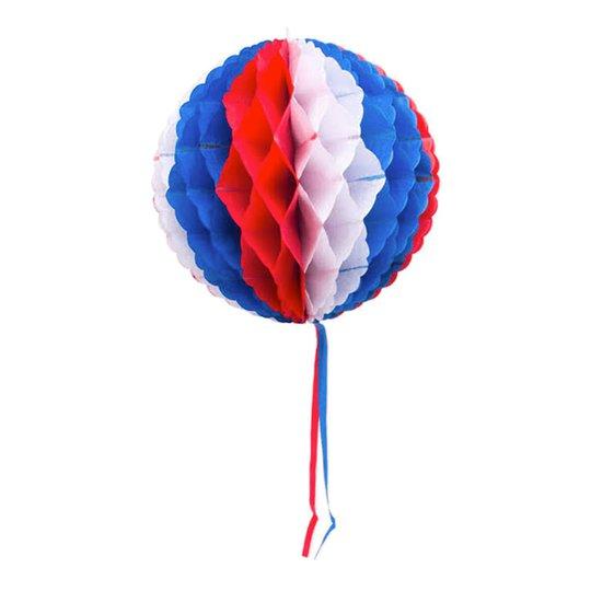 Dekorationsboll Röd/Vit/Blå - 30 cm