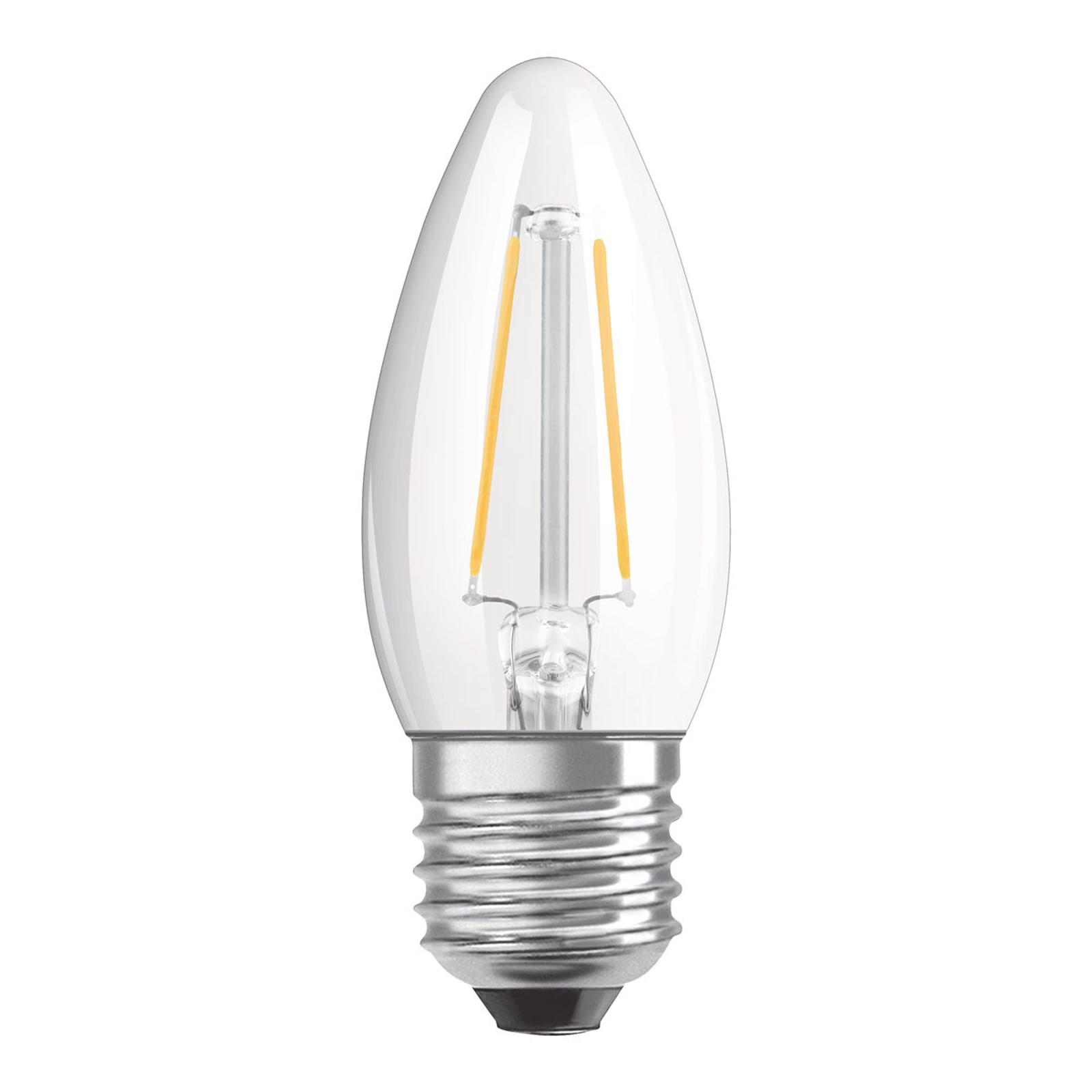 OSRAM-LED-kynttilälamppu E27 5W himmennettävä