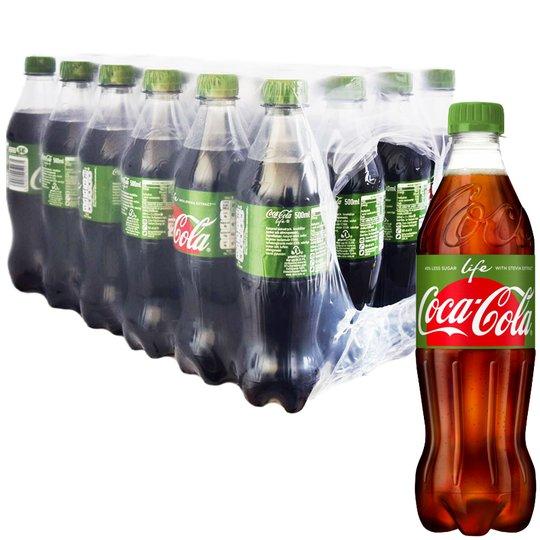 """Hel Låda Coca-Cola """"Life"""" 24 x 500ml - 57% rabatt"""
