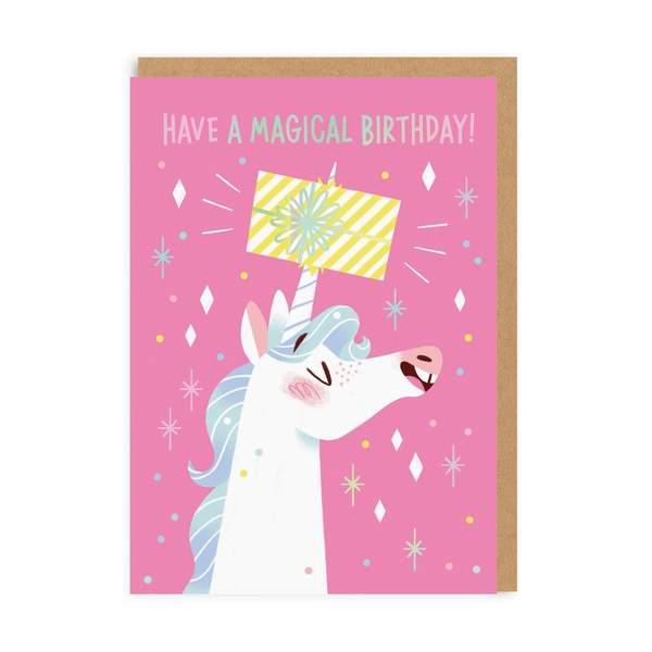 Unicorn Magical Birthday Greeting Card