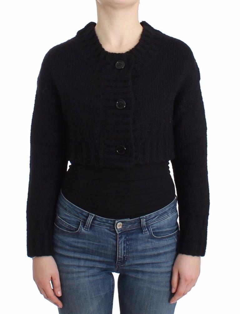 John Galliano Women's Cropped Cardigan Black SIG12097 - XS