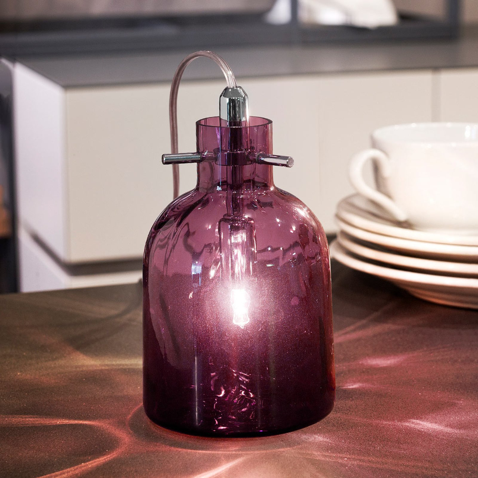 Bossa Nova bordlampe, 11 cm ametyst