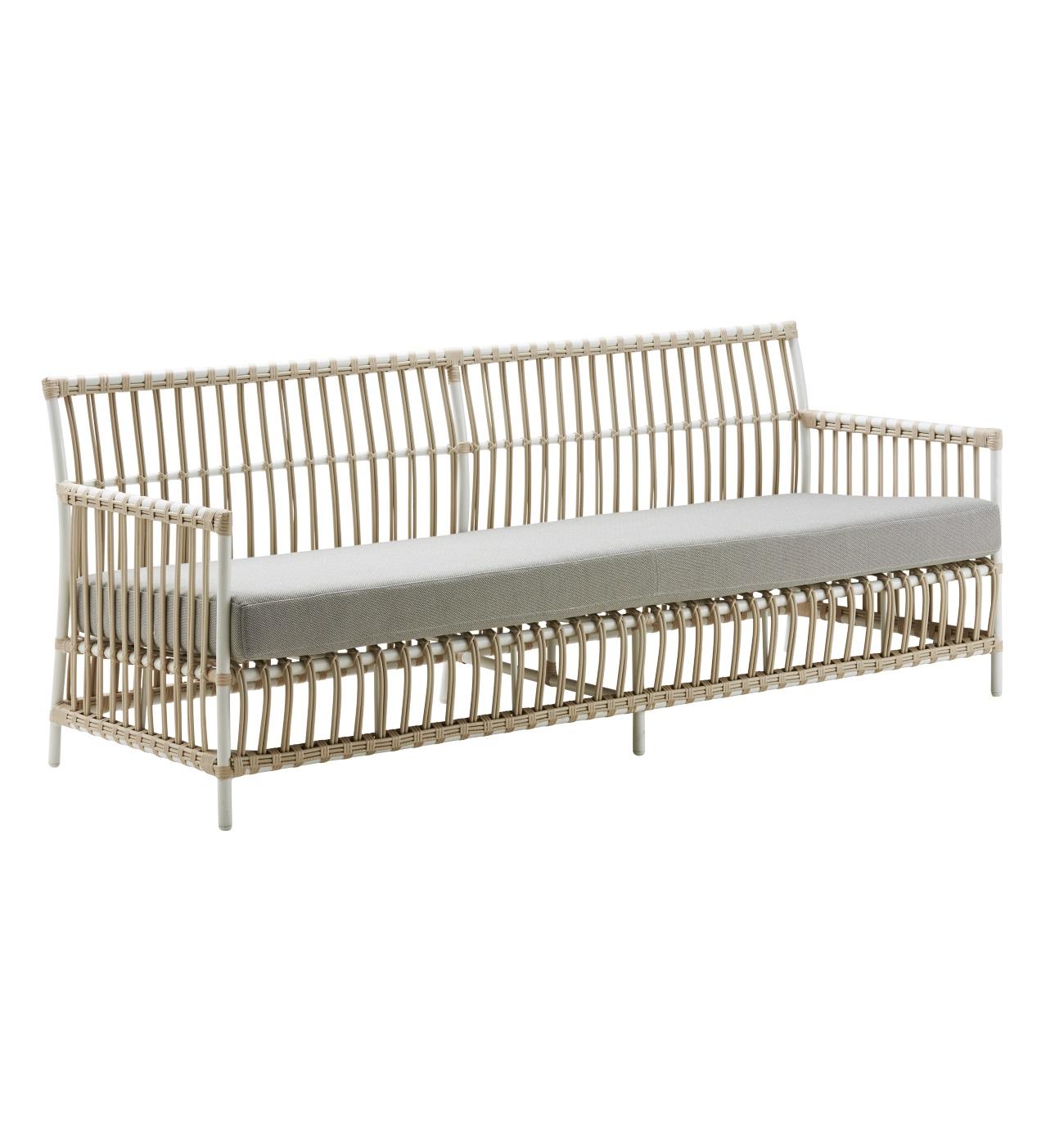 Caroline 3-sits vit soffa Exterior, Sika-Design