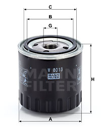 Öljynsuodatin MANN-FILTER W 8013