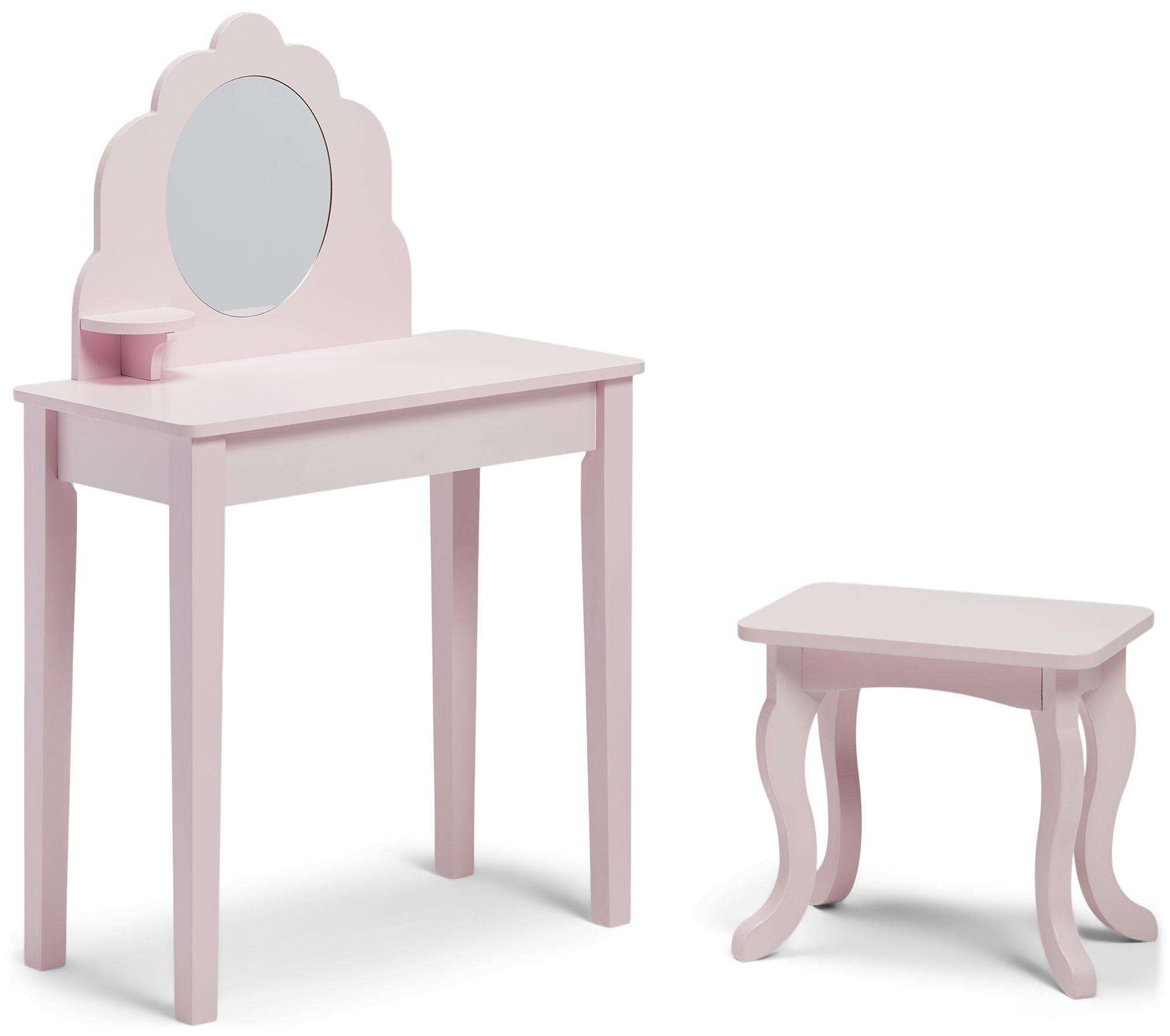 Alice & Fox Meikkipöytä & Tuoli, Vaaleanpunainen