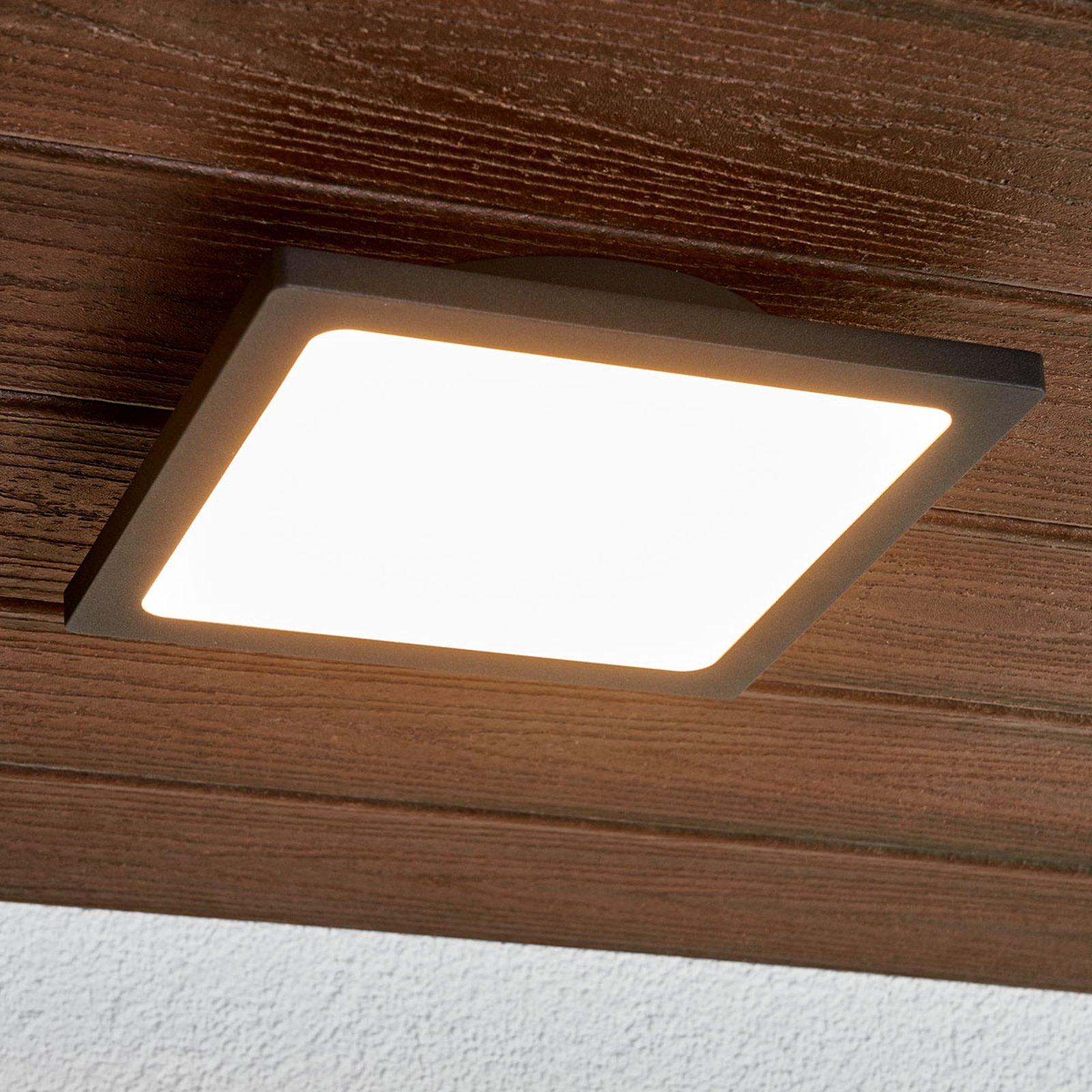 Mabella mørkegrå utendørs LED-vegglampe
