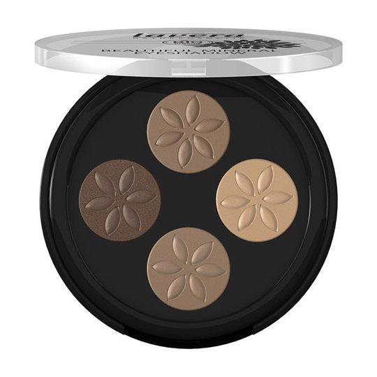 Lavera Beautiful Mineral Eyeshadow Quattro - Cappuccino Cream, 4 x 0,8 g