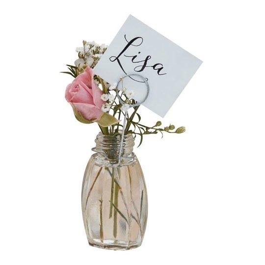 Placeringskortshållare Vaser i Glas - 4-pack