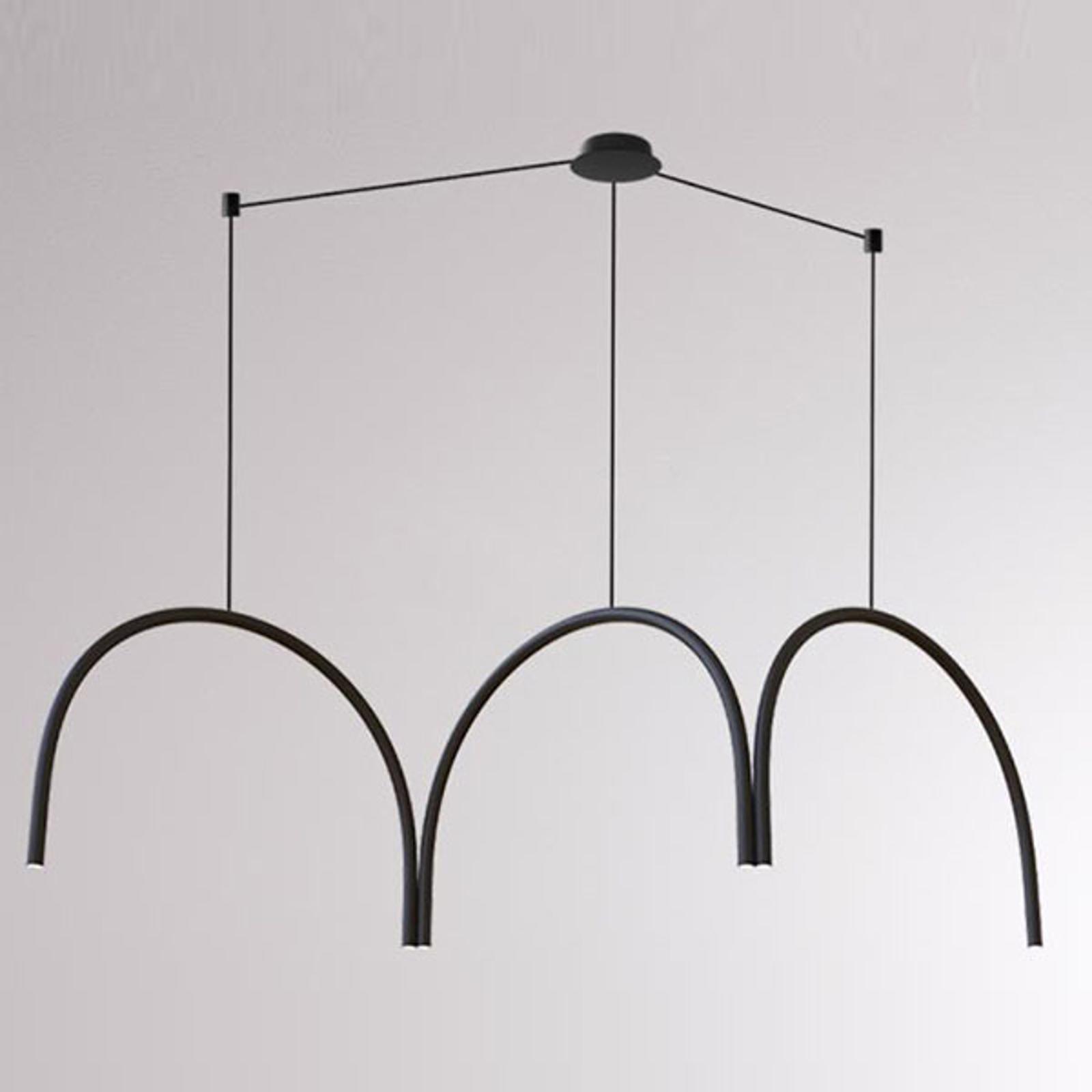 LOUM Arkade System -LED-riippuvalaisin 3 kaarella