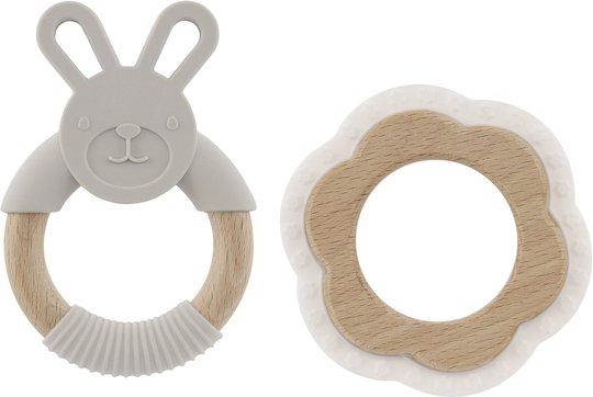 Virgel Baby Bitering 2-pack, Hvit/Lysgrå