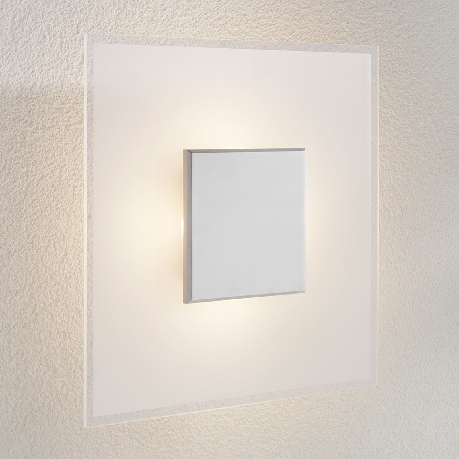 Himmennettävä LED-seinävalaisin Lole, lasia