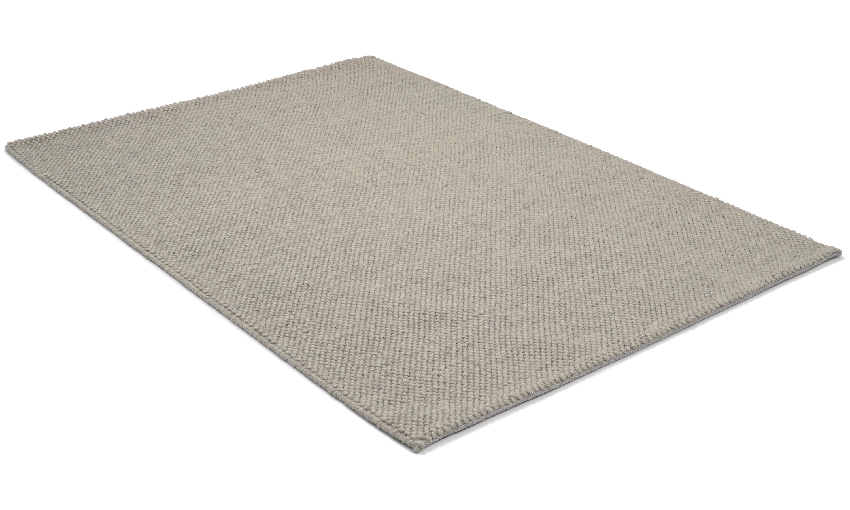 Sarek grå - håndvevd ullteppe
