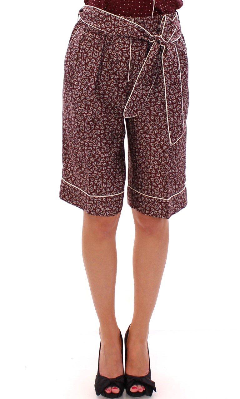 Dolce & Gabbana Women's PAJAMA silk Shorts Red GSS11394 - IT38|XS