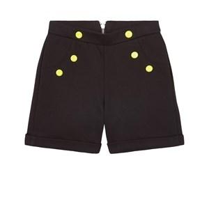 Balmain Logo Buttons Shorts Svarta 8 år