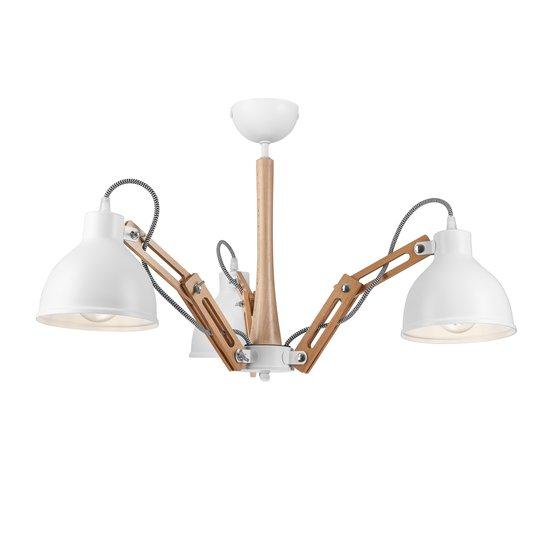 Taklampe Skansen 3 lyskilder justerbar, hvit