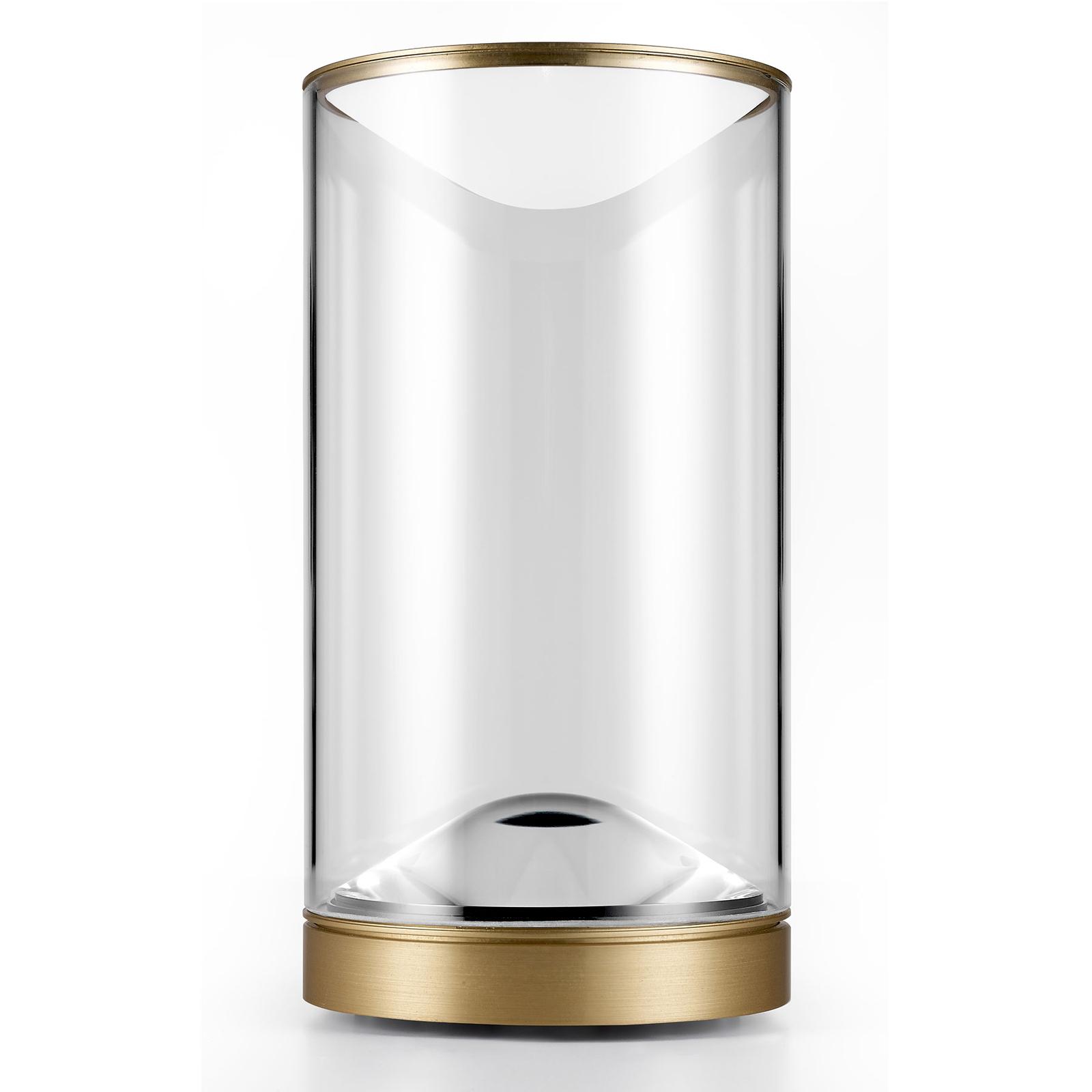 Lumina Eve-LED-pöytälamppu 3 000 K messinki Ø12 cm