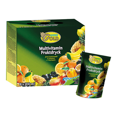 Glocken Gold Multivitamin Fruktdryck - 8-pack