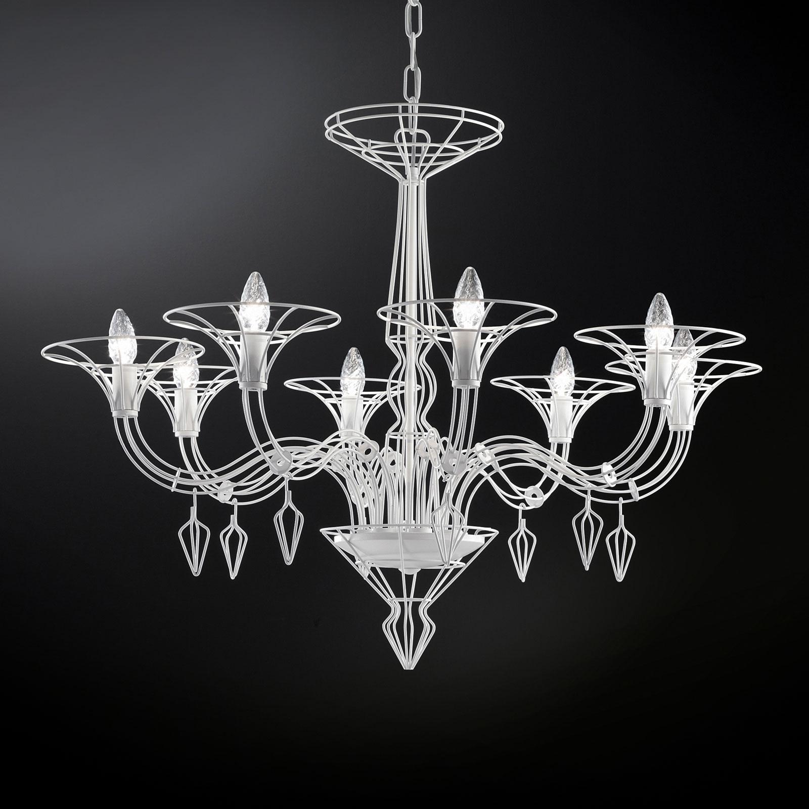 Kattokruunu Dedalo 8-lamppuinen valkoinen