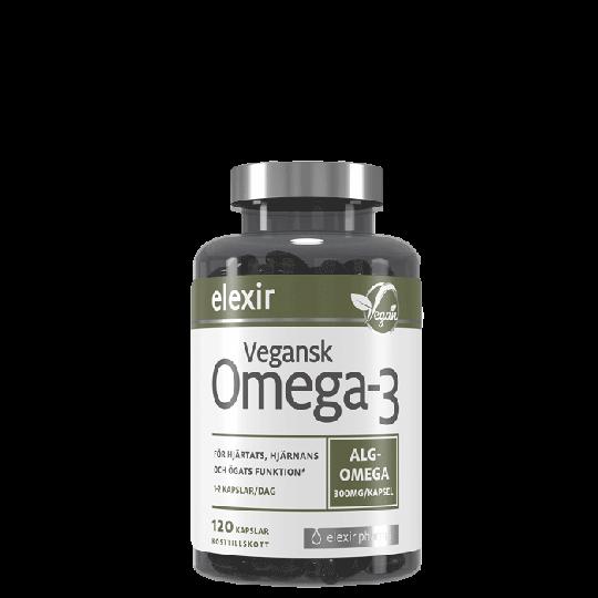 Vegansk Omega-3, 120 kapselia
