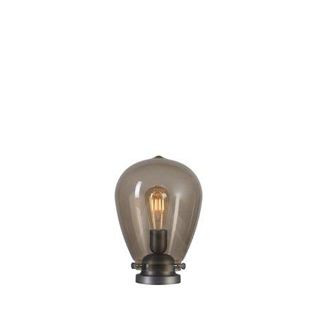 Dolores Bordlampe oksidert grå Røykfarget Glass