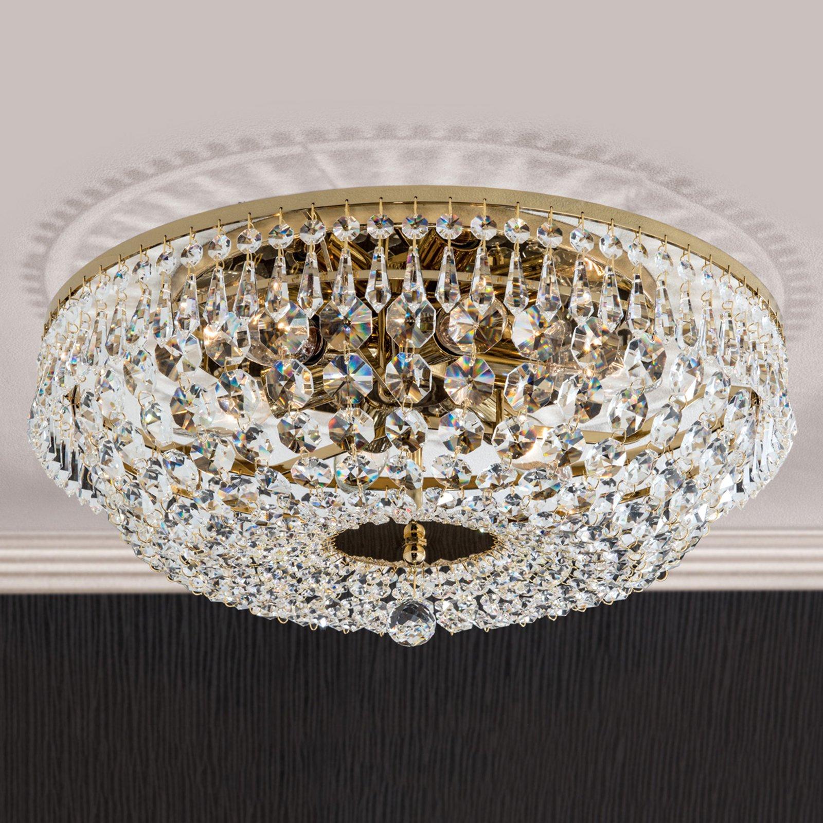Rund SHERATA taklampe i gull 45 cm