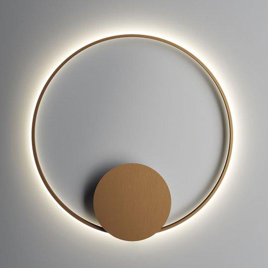 Fabbian Olympic -LED-seinävalo, Ø 80 cm, pronssi