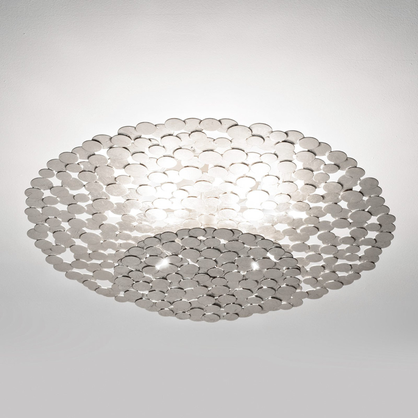 Ekstravagant taklampe Tresor 60 cm, sølv