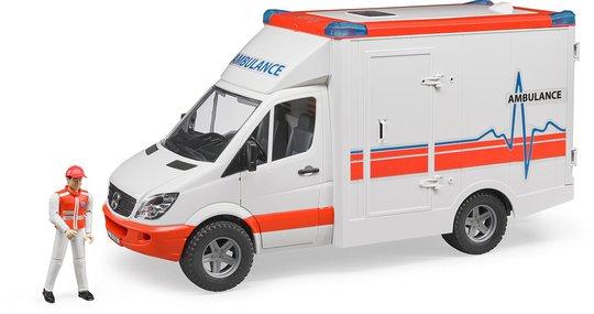 Bruder Mb Sprinter Ambulanse Med Lyd/Lys Inkl. Fører 02536