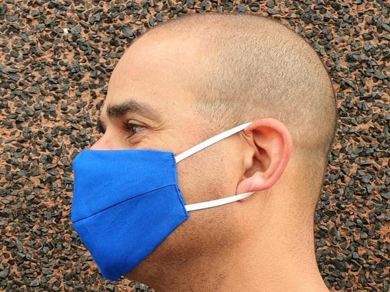 Dark Blue Face Mask Blue