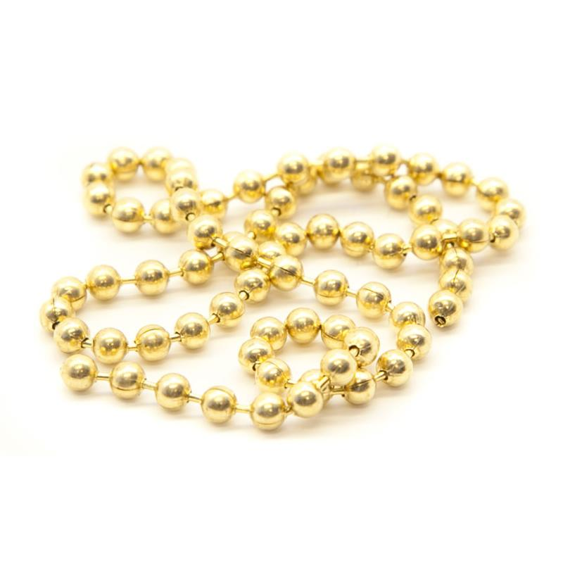 Bead Chain Eyes L Gold
