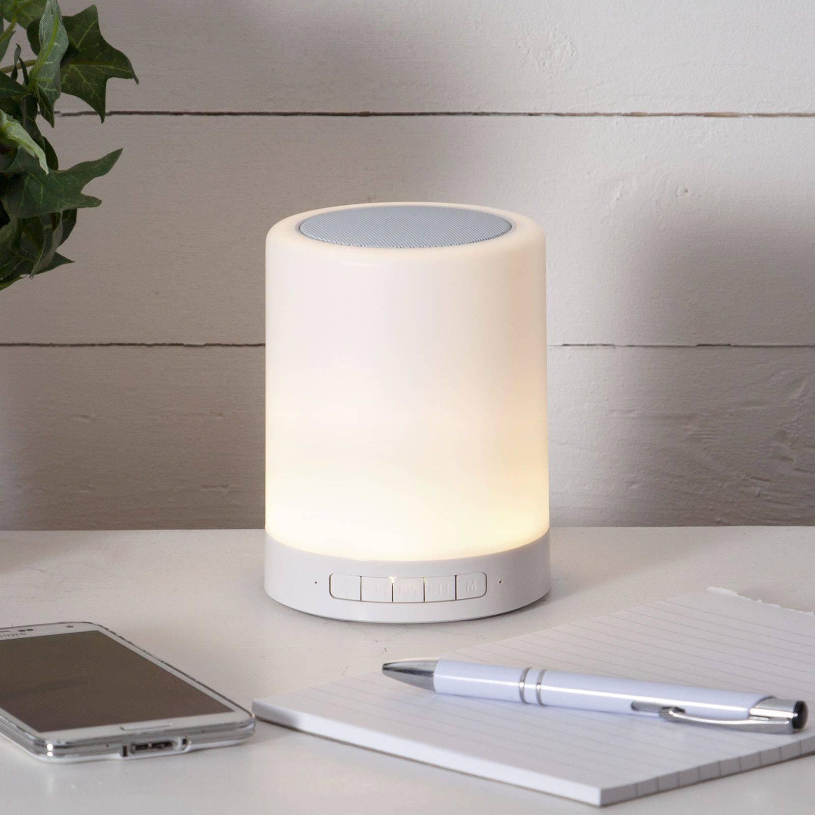LED-bordlampe 362-81 med RGBW og høyttaler