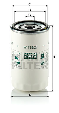 Öljynsuodatin MANN-FILTER W 719/27