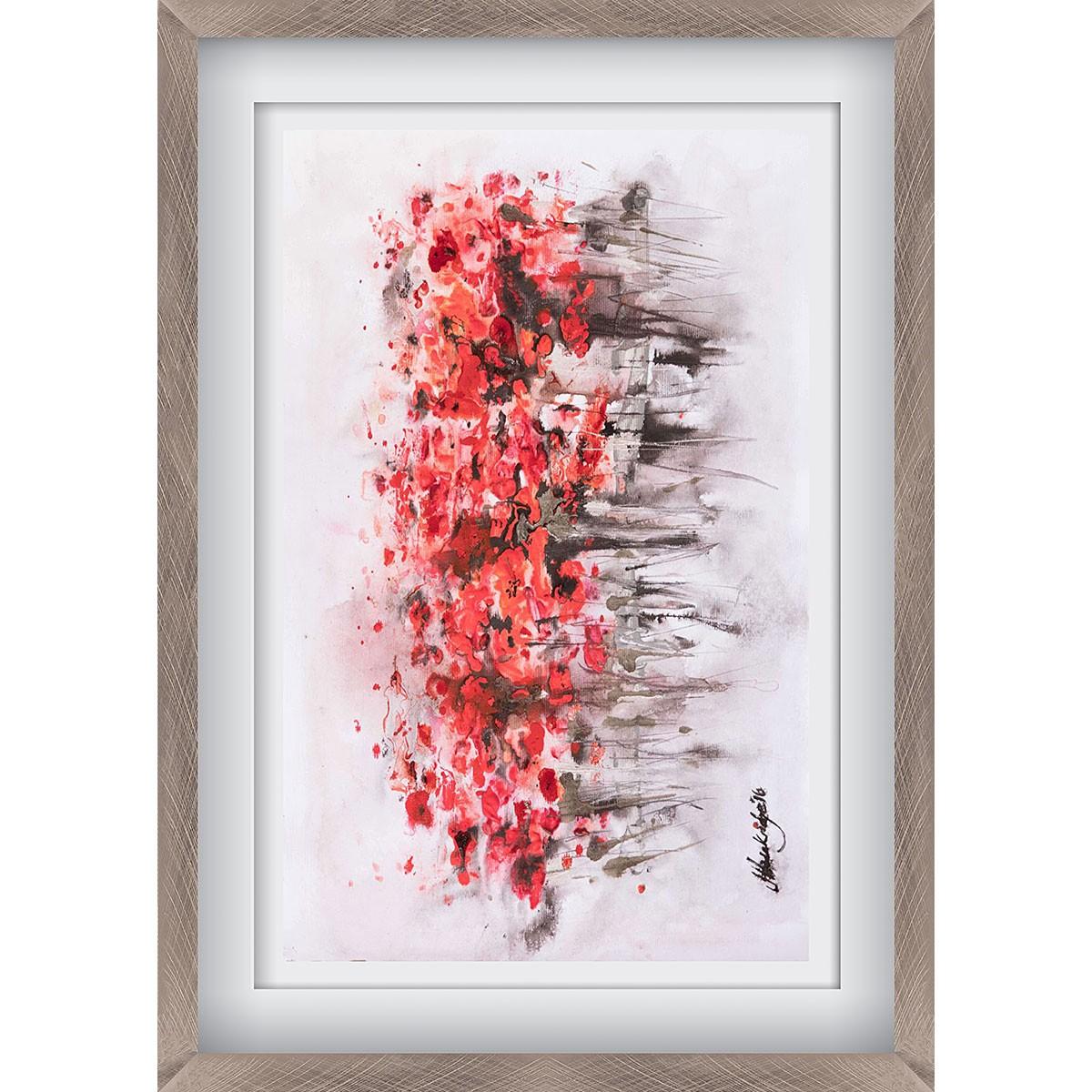 Urban Poppies Pewter - X-Large