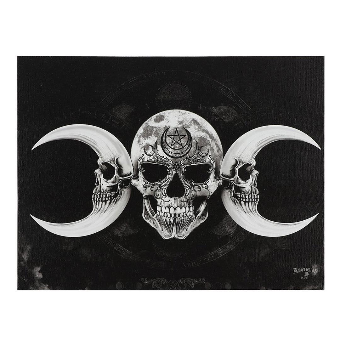 Dödskalle Canvastavla av Alchemy Gothic