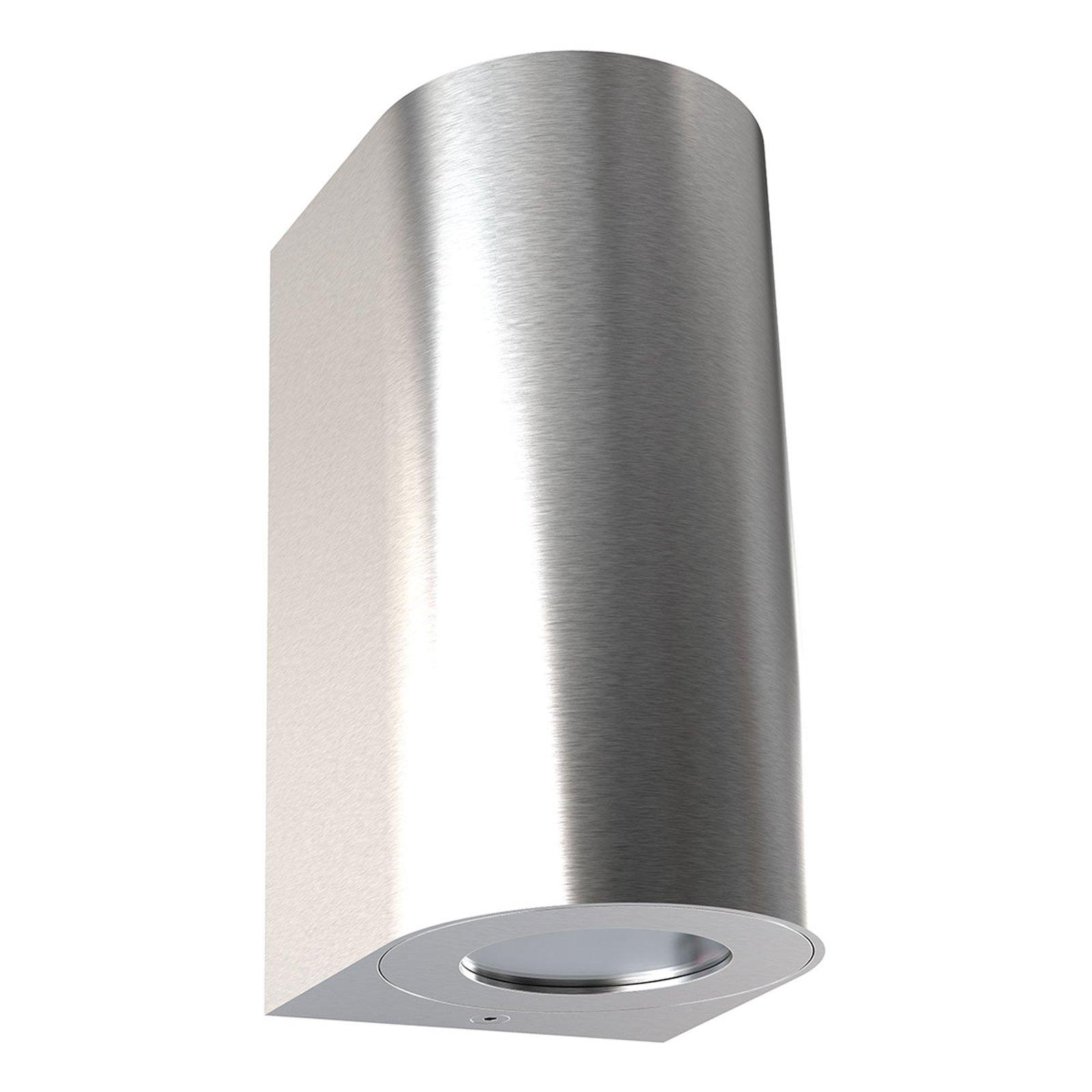 Utendørs vegglampe Canto Maxi 2, rustfritt stål