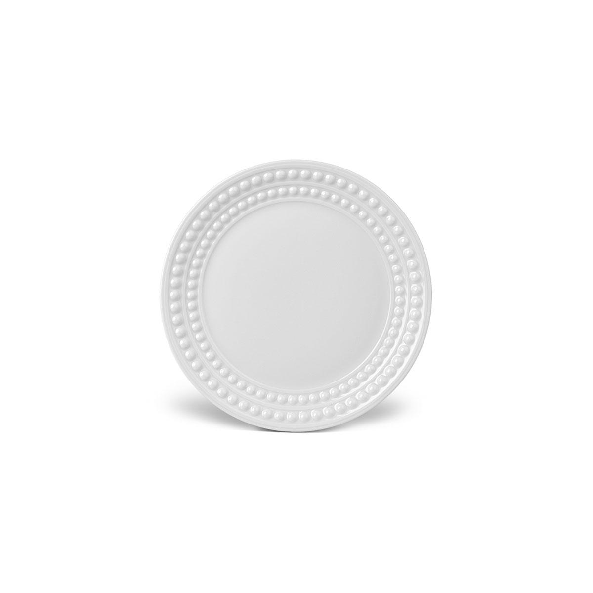 L'Objet I Perlée Bread + Butter Plate White