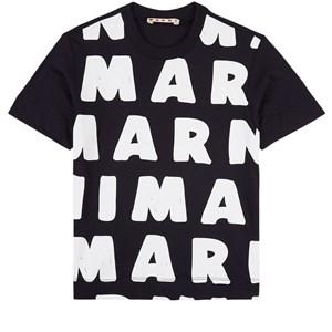 Marni Logo Branded T-shirt Marinblå 4 år