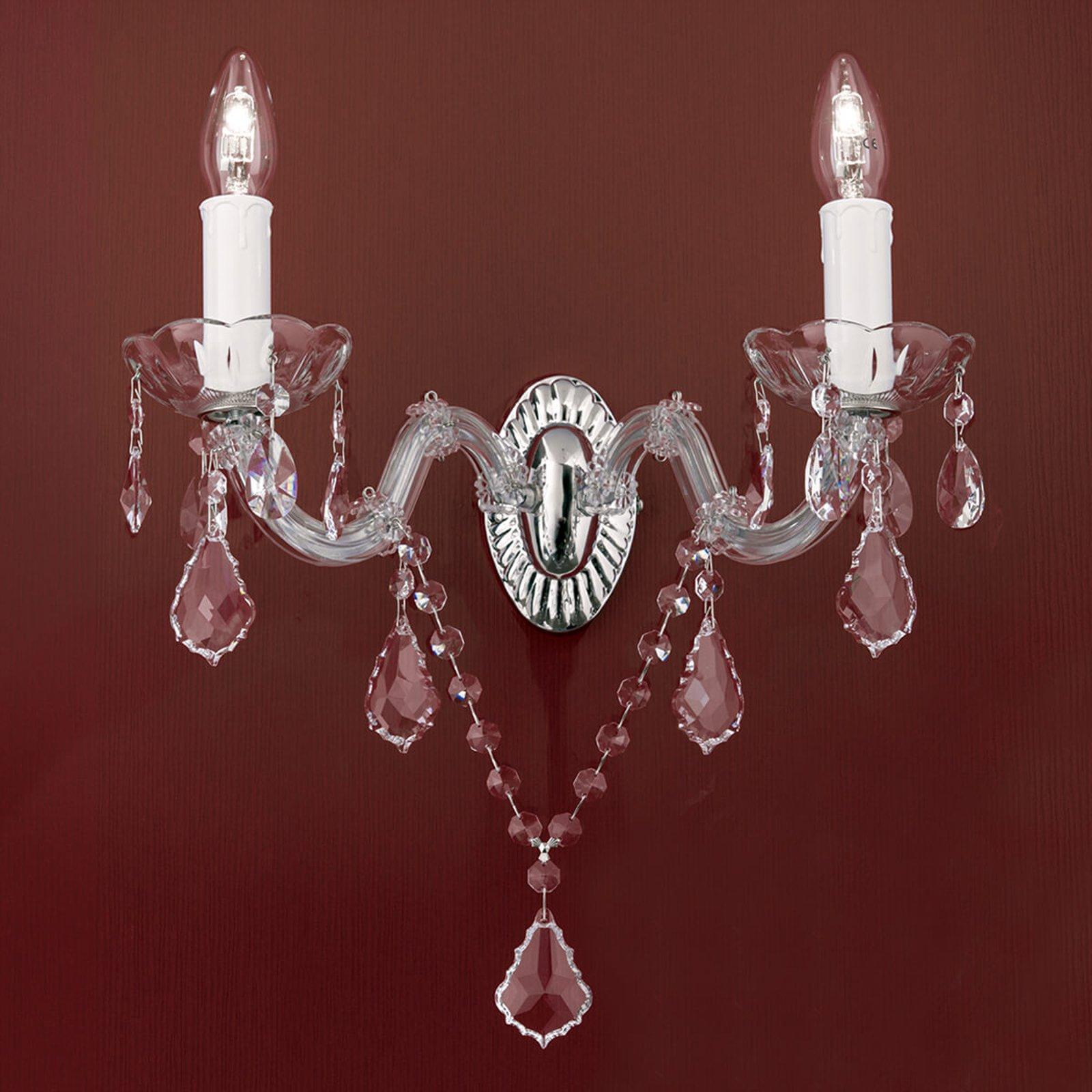 Vegglampe i krystall Maria Theresia