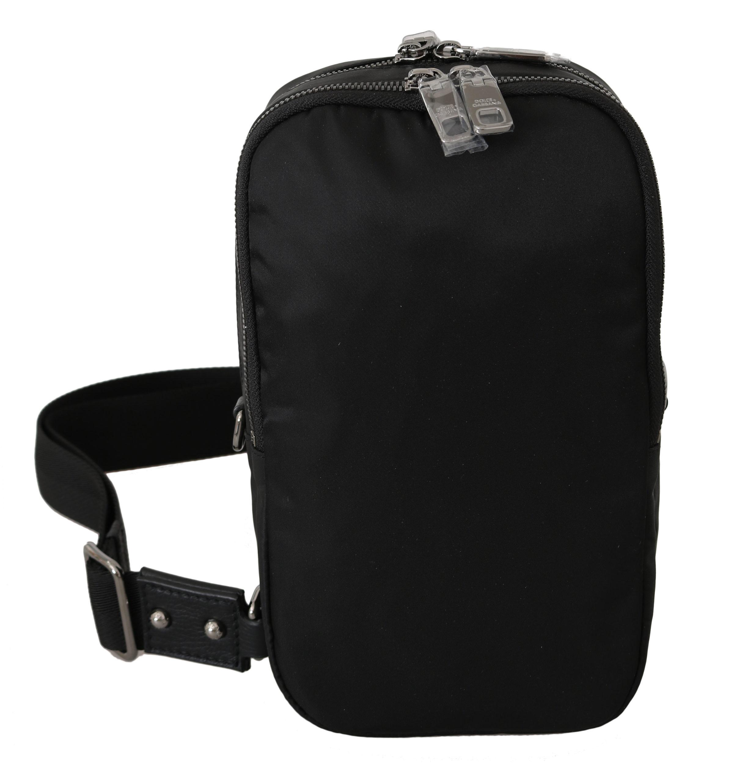 Dolce & Gabbana Men's Nylon Strap Crossbody Bag Black VAS8768