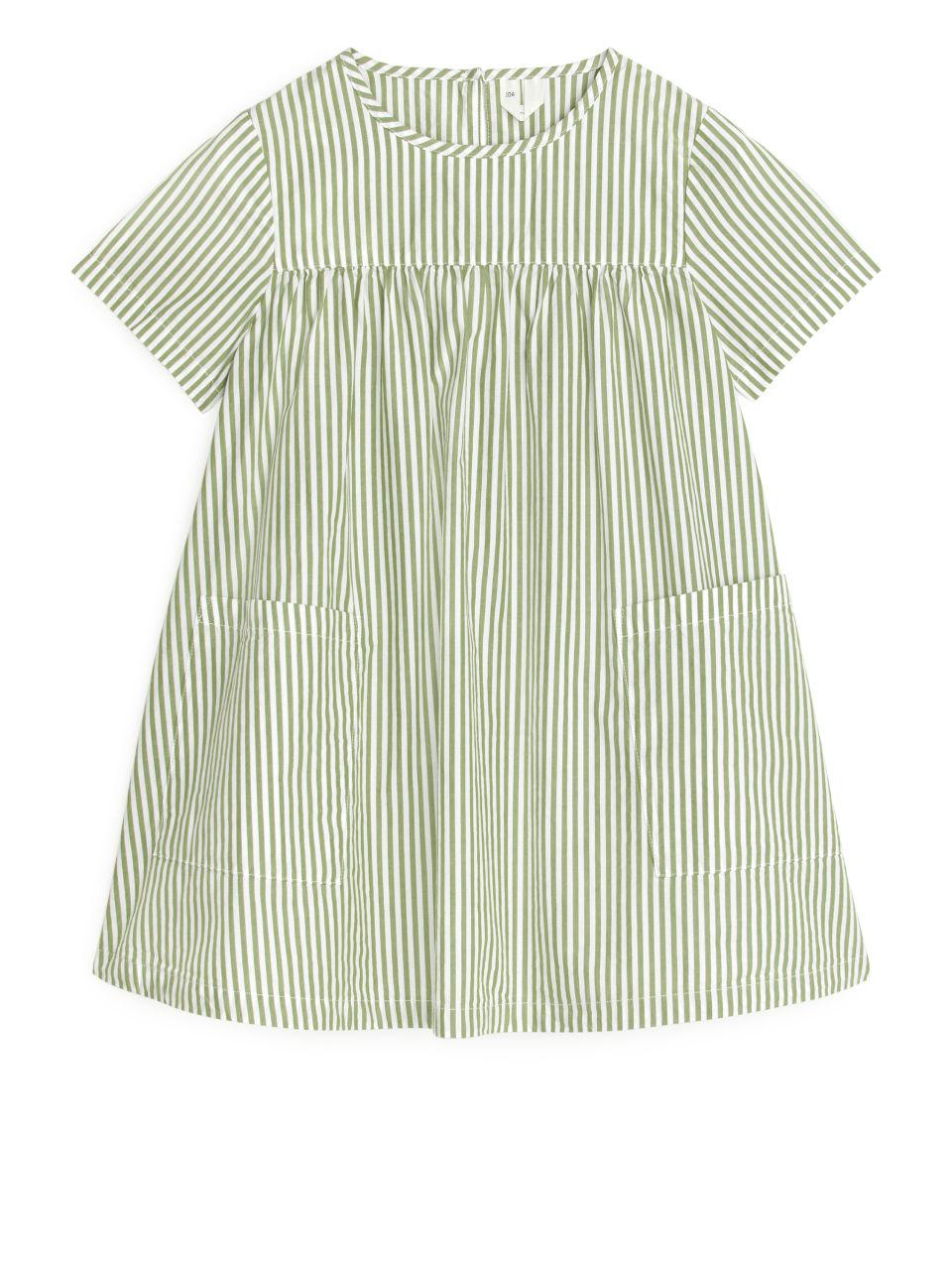 Pima Cotton Poplin Dress - Green