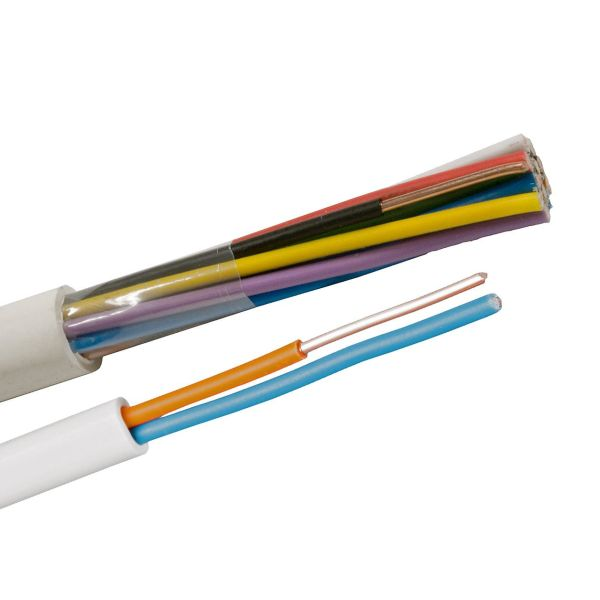 Nexans EQQRB EASY Telekaapeli 1 m, valkoinen 2 x 1,0 mm