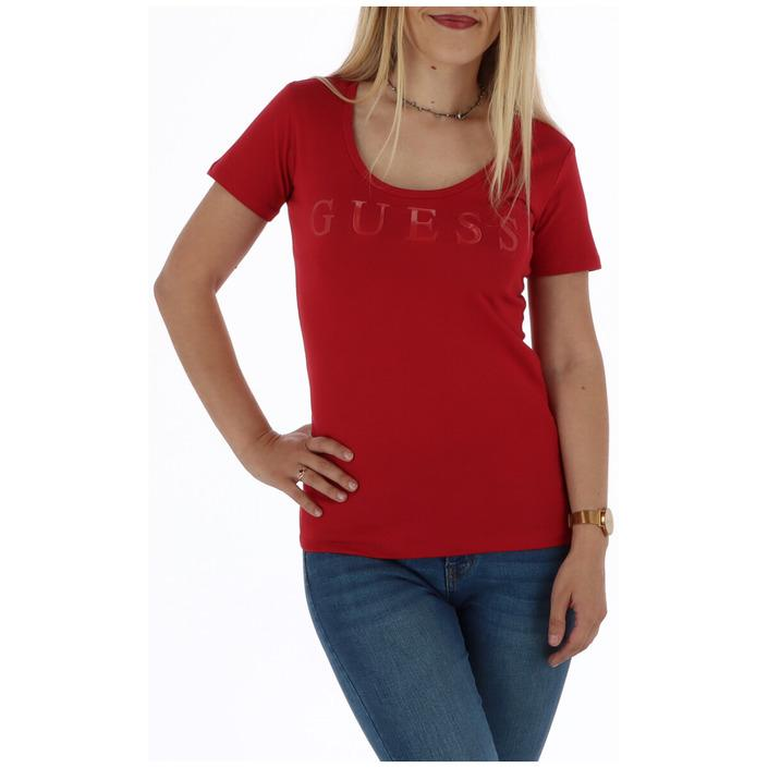 Guess Women's T-Shirt Red 301059 - red XL
