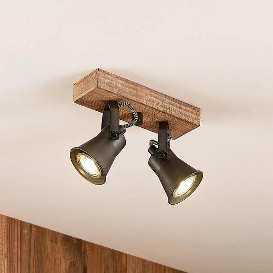 Lindby Grandesa -kattokohdevalo, kaksilamppuinen